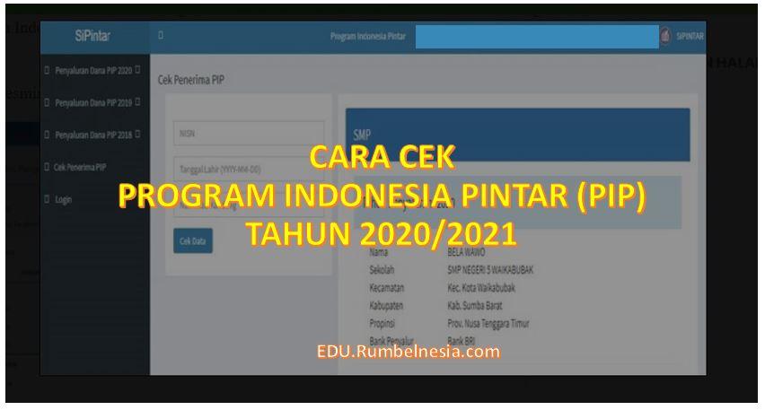 Cara Cek Program Indonesia Pintar